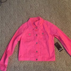 Button up pink kids jacket